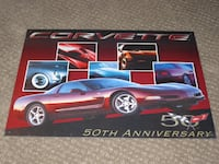 Chevrolet Chevy Corvette 50th Anniversary Tin Sign Poster Calgary