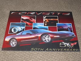 Chevrolet Chevy Corvette 50th Anniversary Tin Sign Poster