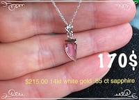 silver chain necklace with heart pendant Toronto, M6B 1A7