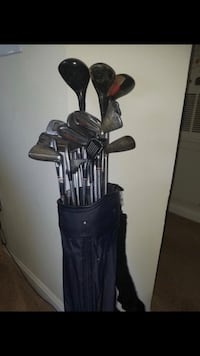 Black and gray golf bag with golf clubs Rockville, 20850