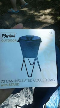 72 can cooler bag with stand