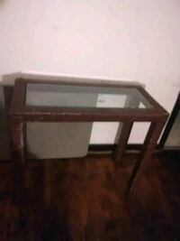 Antique glass side table 534 km