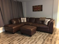 Brown Leather Left Sectional Toronto, M5P 2S1