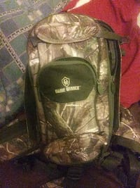 black and green camouflage backpack Augusta, 30901
