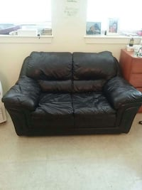 black leather loveseat Baltimore, 21215