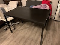 Ikea black table