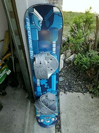 blue and black snowboard with bindings Bowie, 20715