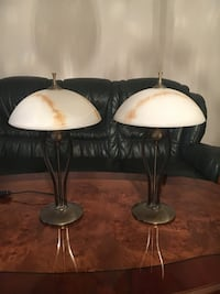 two white and beige table lamps Lund, 227 62
