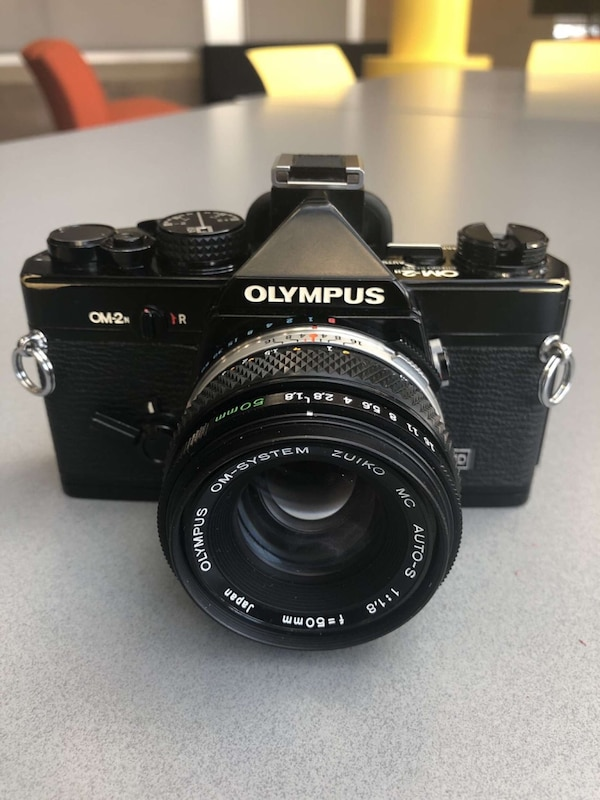 OM-2 Olympus Black and White Film Camera  d71d22c3-4fac-4dce-ac2d-937d7a1665a5