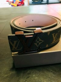 black and brown Louis Vuitton leather belt Toronto, M8Z