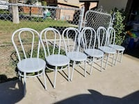 6 Brand New Metal Chairs