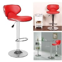 Brand New Red Leather Bar Stool Barstools  Brea, 92821