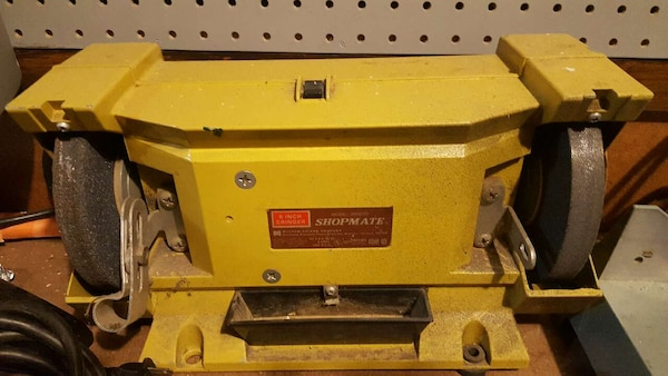 Pleasing Used Yellow Shopmate Bench Grinder For Sale In Drayton Gmtry Best Dining Table And Chair Ideas Images Gmtryco