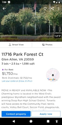 HOUSE For Rent 3BR 2.5BA Glen Allen, 23059