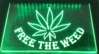 Enseigne lumineuse Free the weed Vaudreuil-Dorion