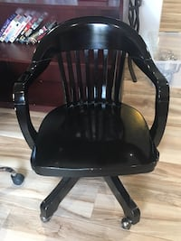 Black Wood Rolling Chair North Miami, 33181