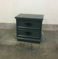brown wooden 2-drawer nightstand London, N5V