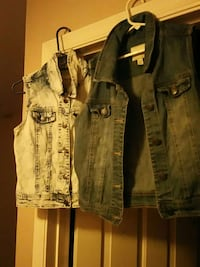 gray and blue denim vests Las Vegas, 89128