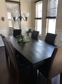 Dining Room Table with 6 chairs and Custom Table Cover Chesapeake, 23323