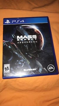 PS4 game CD with case Mass effect andromeda  Denver, 80237