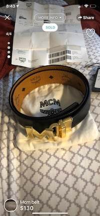 Mcm belt with receipt tag and bag Triangle, 22172