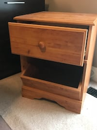 brown wooden 2-drawer chest Morinville, T8R 1P7