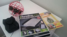 Air hogs and reading light and anti slip mat