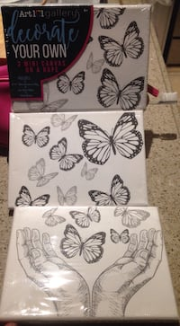 Paint butterfly canvass-new