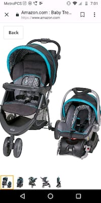 baby's black and blue travel system Montgomery Village, 20886