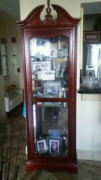 Wood and glass cabinet  New Rochelle, 10801