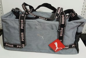 PUMA DUFFEL - GREY AND PINK