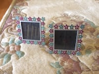 2 floral picture frames