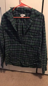 black and green plaid button-up shirt Milford, 19963