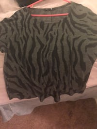 Zebra shirt from forever 21 is a small but fits like a M