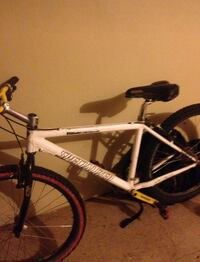 white and black hardtail mountain bike New York, 10027