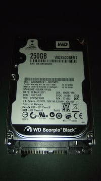 250gb hard drive for a laptop Rockville, 20850
