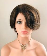 Classic Short Brown Wig for Everyday Calgary, T2P