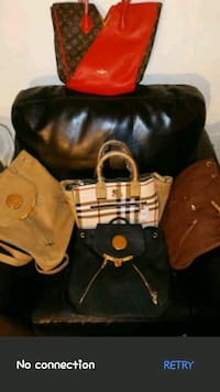 two black and brown leather handbags Richmond