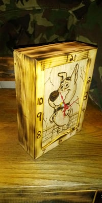 Handcrafted woodburning scrappy