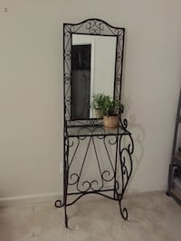 Black metal 3-layer entry/hallway stand