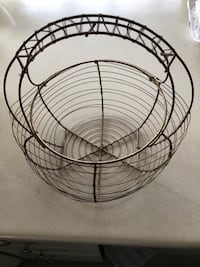 Vintage style wire egg collecting basket