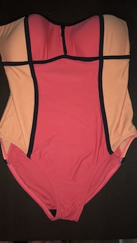 Coral and pink one piece bathing suit Vancouver, V5Z 1M9