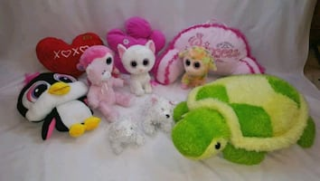 Children stuffed toys and pillows