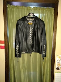 black leather lace up front and sleves Spokane, 99224