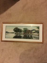 Quilted Picture of House on Lake Ajax, L1T 4M8