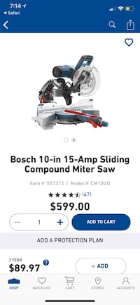 Bosch Compound Miter Saw Clarksville, 37042
