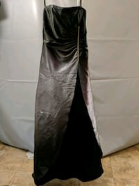 Black and grey ball gown