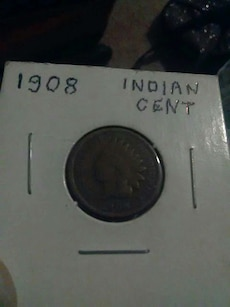 1908 indian head penny,lots of other coins also