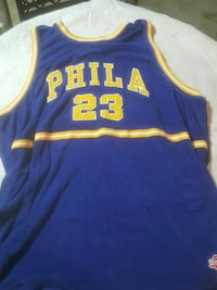 blue and yellow Phila 23 jersey