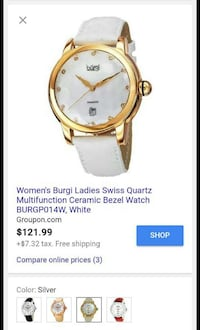 Women's Burgi Laides Swiss Quartz Watch Norfolk, 23517